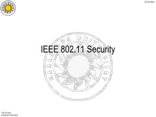 IEEE 802.11 Security