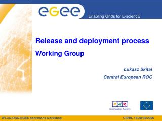 Release and deployment process Working Group