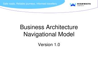 Business Architecture Navigational Model