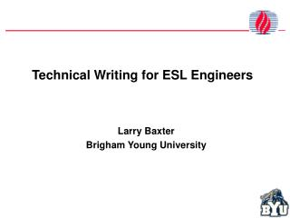 Technical Writing for ESL Engineers