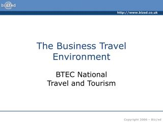 The Business Travel Environment
