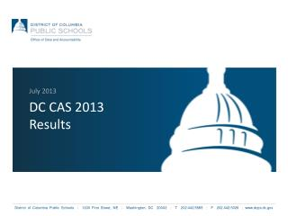DC CAS 2013 Results