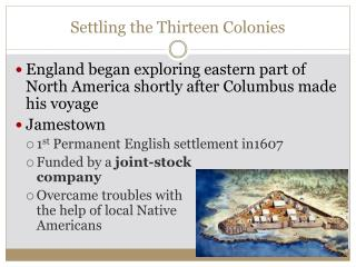 Settling the Thirteen Colonies