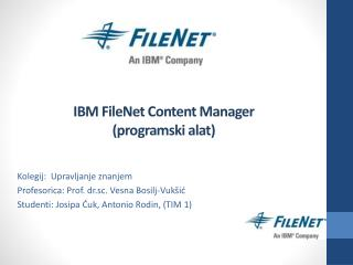 IBM FileNet Content Manager (programski alat)