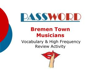 Bremen Town Musicians Vocabulary & High Frequency Review Activity
