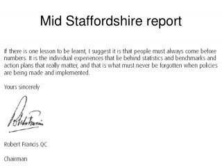 Mid Staffordshire report