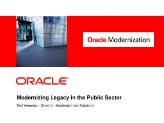 Modernizing Legacy in the Public Sector