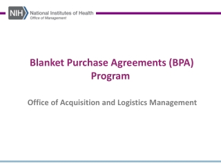 Blanket Purchase Agreements BPA
