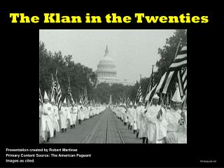 The Klan in the Twenties