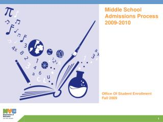 Middle School Admissions Process 2009-2010