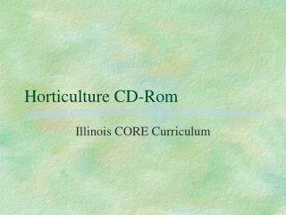 Horticulture CD-Rom