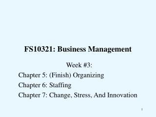 FS10321: Business Management