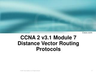 CCNA 2 v3.1 Module 7  Distance Vector Routing Protocols