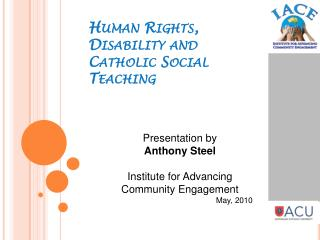 Human Rights, Disability and Catholic Social Teaching