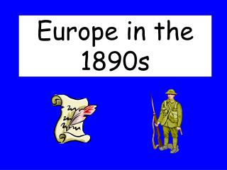 Europe in the 1890s