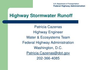 Highway Stormwater Runoff