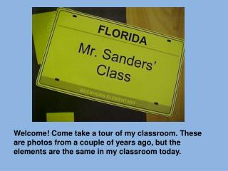 A Virtual Tour of My Classroom