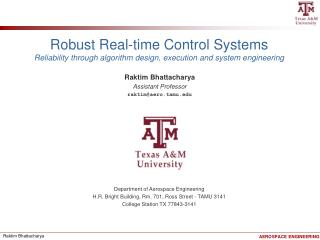 Robust Real-time Control Systems