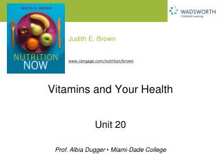 Vitamins and Your Health