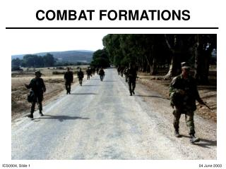 COMBAT FORMATIONS