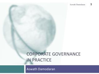 Corporate governance In practice