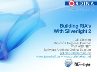 Building  RIA's With  Silverlight 2