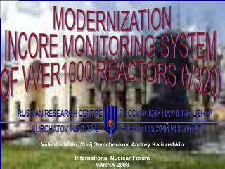MODERNIZATION INCORE MONITORING SYSTEM  OF VVER1000 REACTORS (V320)