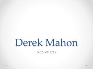 Derek Mahon