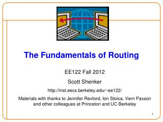 The Fundamentals of Routing