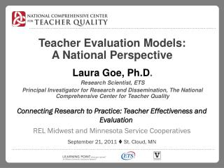 Teacher Evaluation Models:  A National Perspective