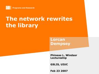 The network rewrites the library