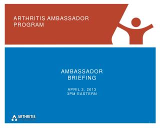 ARTHRITIS AMBASSADOR PROGRAM
