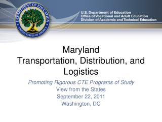 Maryland Transportation, Distribution, and Logistics