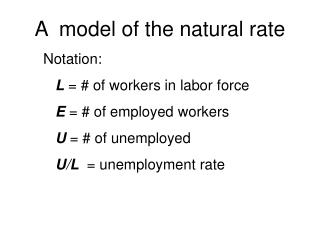 A  model of the natural rate