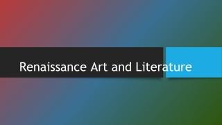 Renaissance Art and Literature