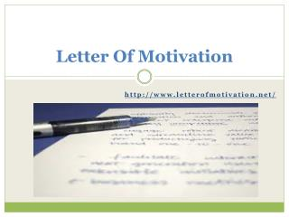 Letter of Motivation Writing Help