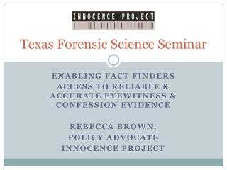 Texas Forensic Science Seminar