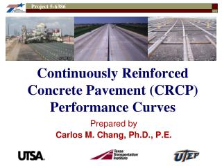 Continuously Reinforced Concrete Pavement (CRCP) Performance Curves