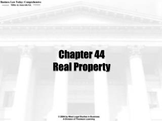 Chapter 44 Real Property