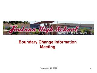 Boundary Change Information Meeting