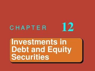 Investments in Debt and Equity Securities