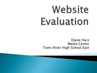 Website E valuation