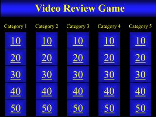 Video Review Game