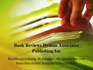 Book Reviews Dyman Associates Publishing Inc: Wahrsager