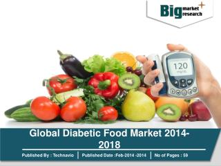 Global Diabetic Food Market 2014-2018