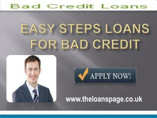 Bad Credit Loans- Obtains Easy Funds For Multiple Purpose