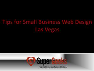 Tips for Small Business Web Design Las Vegas