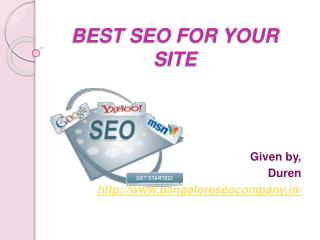 BEST SEO FOR YOUR SITE