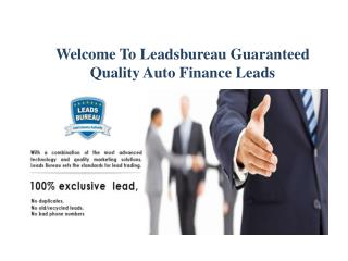 Auto Finance Leads According to The Actual Need of The Clien
