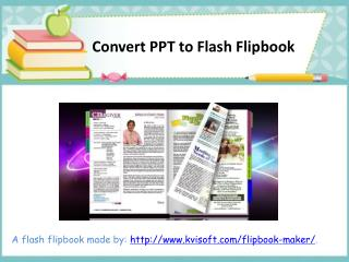 Anyone Can Convert PowerPoint to Flash Flipbook
